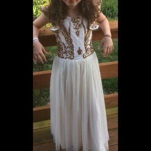 Mia Joy white & gold Ava dress.